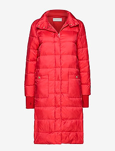 Heloise down coat - wyściełane płaszcze - red