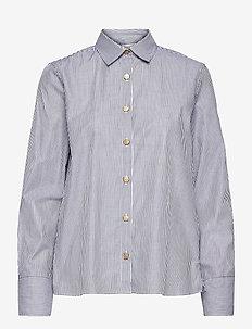 Adina shirt - overhemden met lange mouwen - marine white stripe