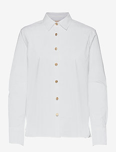 Adina shirt - langermede skjorter - optic white