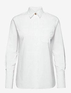 Adrianne shirt - langermede skjorter - white