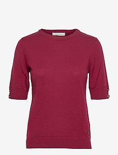 Lucca top - strikkede topper & t-skjorter - bordeaux