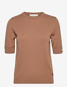 Lucca top - stickade toppar & t-shirts - cinnamon