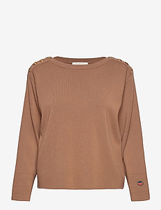 Lea sweater - gensere - cinnamon