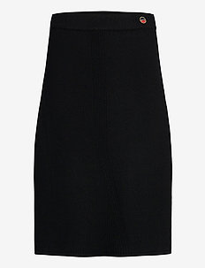 Jenny skirt - midi skjørt - black