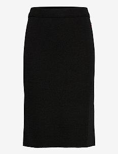 Jill skirt - midi skjørt - black