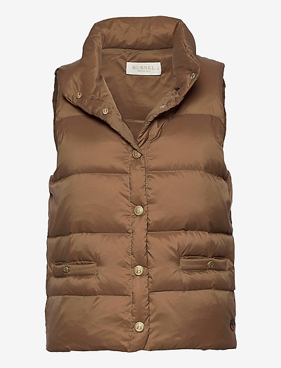 Amy down vest - puffer vests - cinnamon