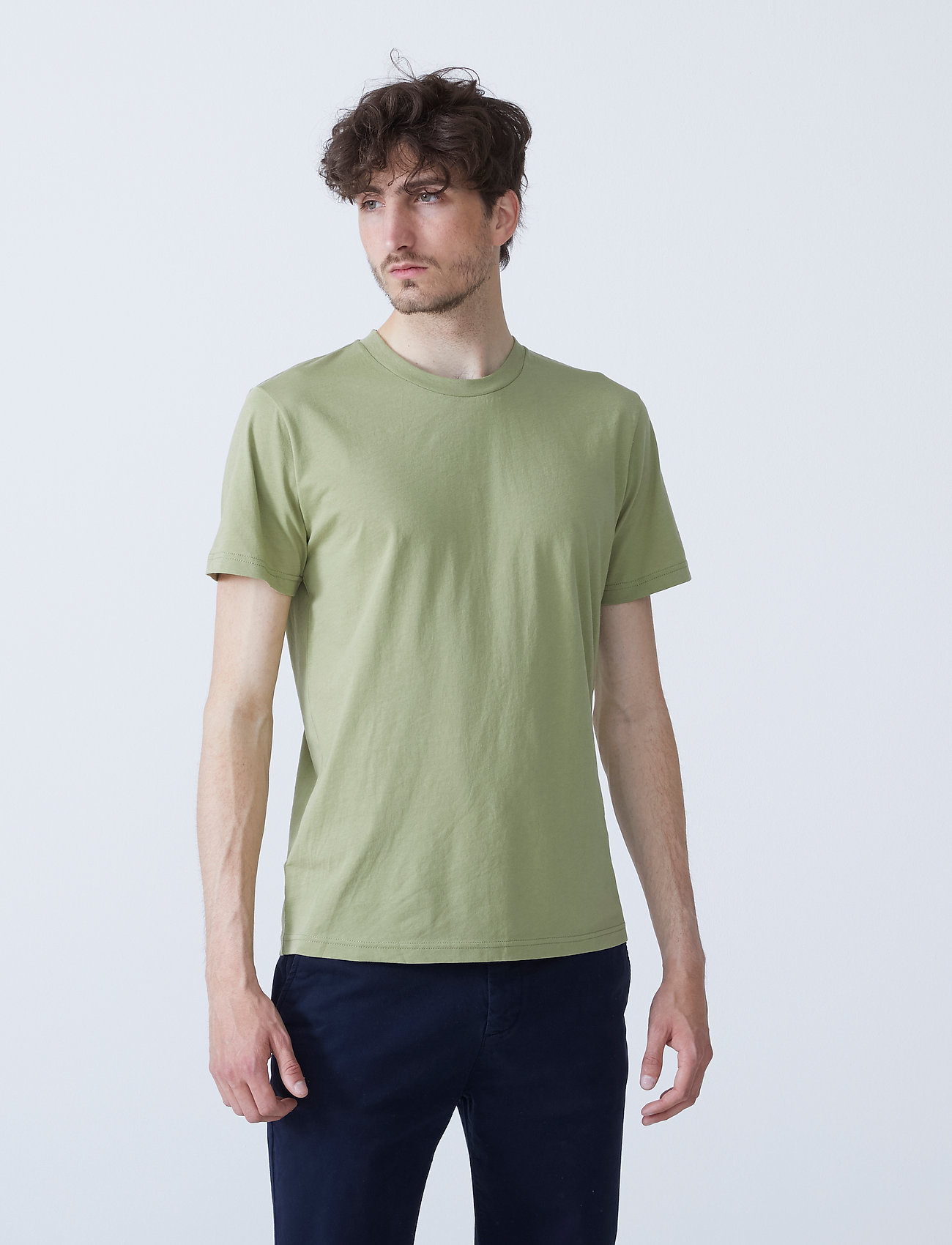 By Garment Makers - The Organic Tee w. pocket - podstawowe koszulki - sage green - 0