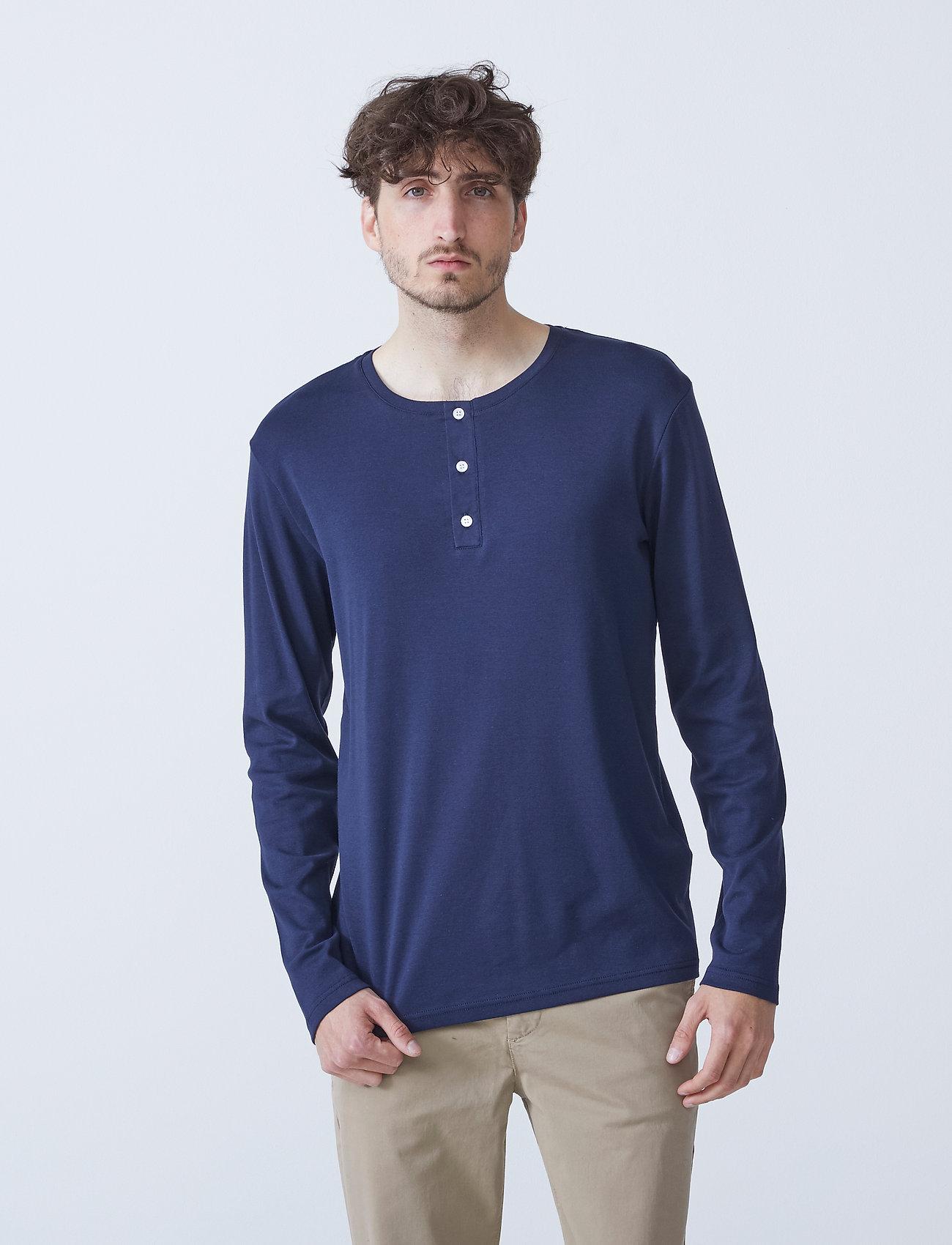 By Garment Makers - Larry LS - t-shirts basiques - navy blazer - 0