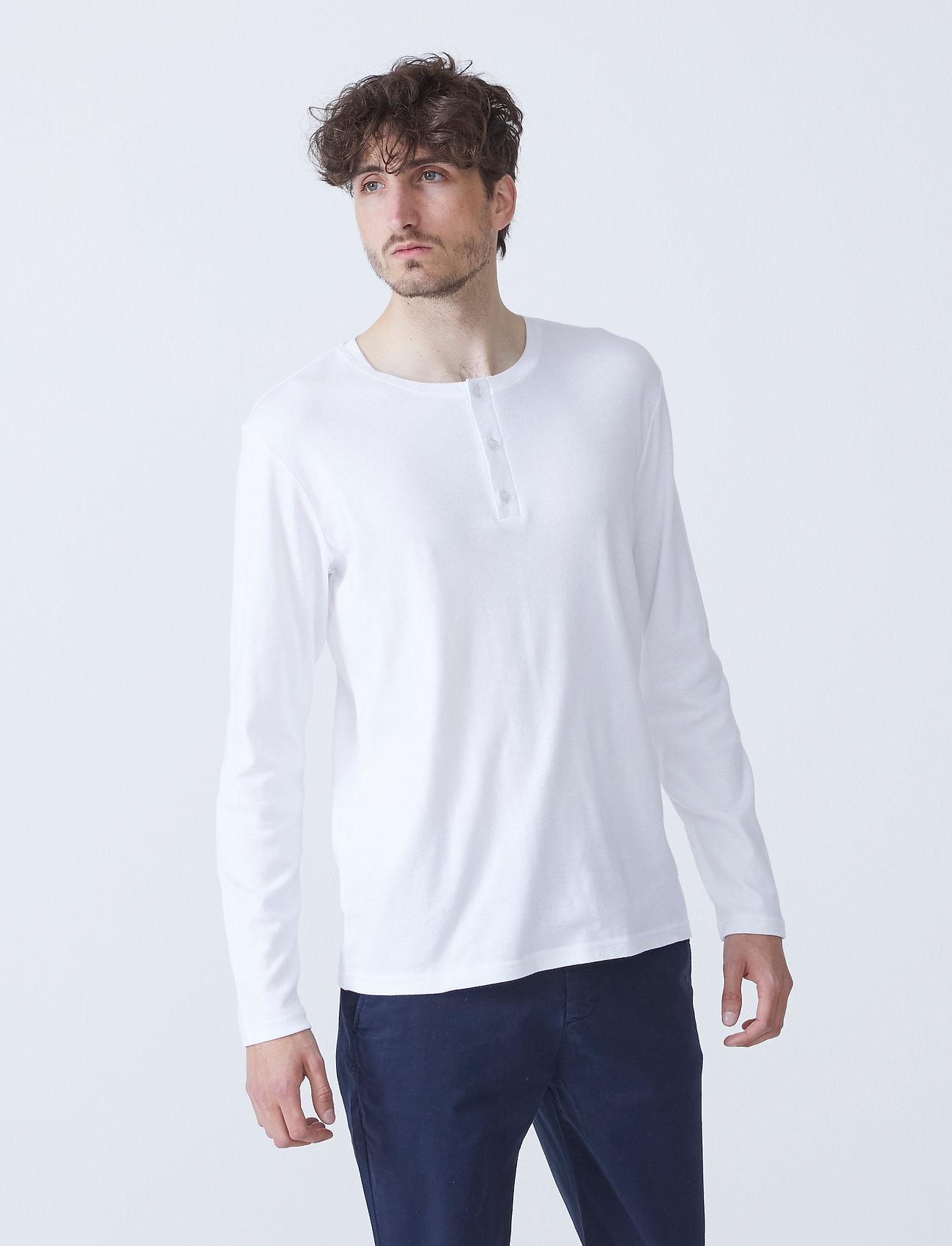 By Garment Makers - Larry LS - t-shirts basiques - white - 0