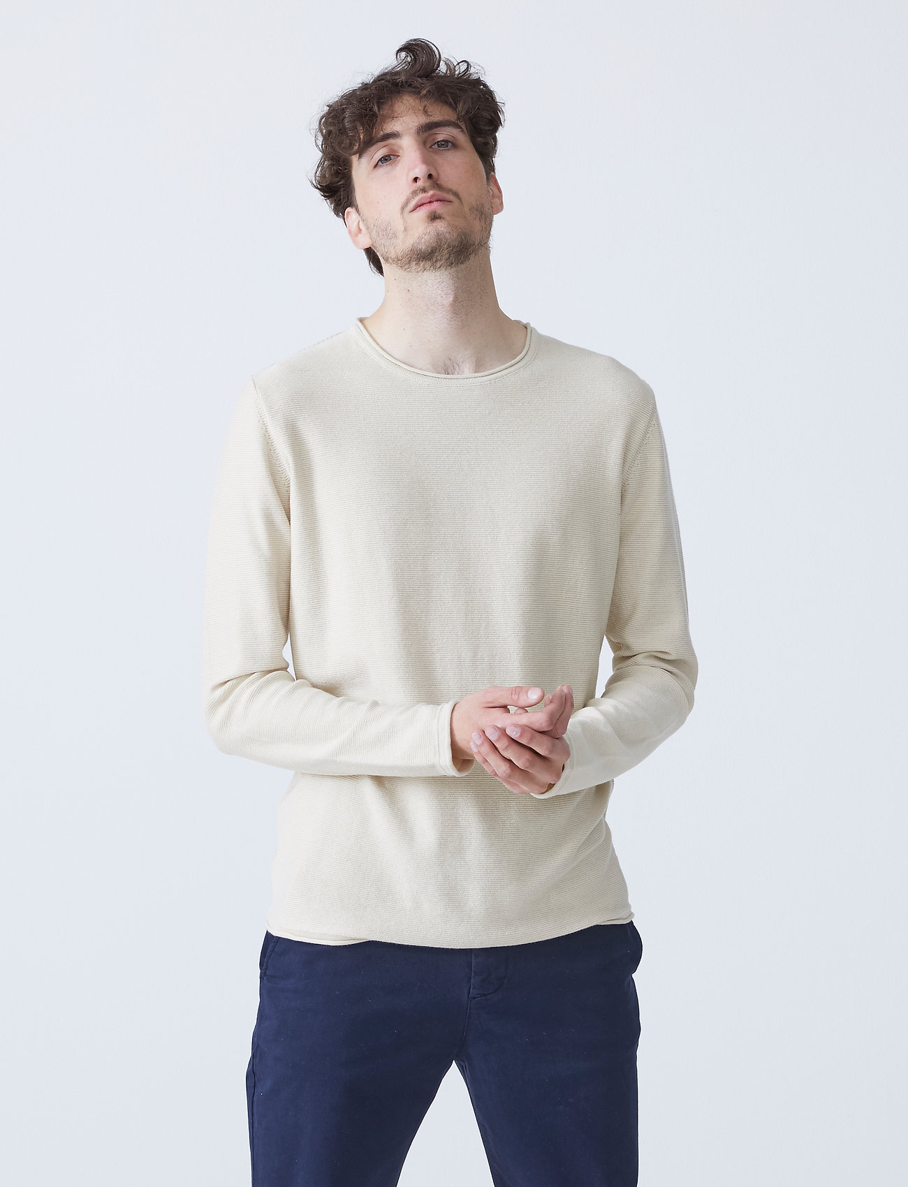 By Garment Makers - Alvin - tricots basiques - bleached sand - 0