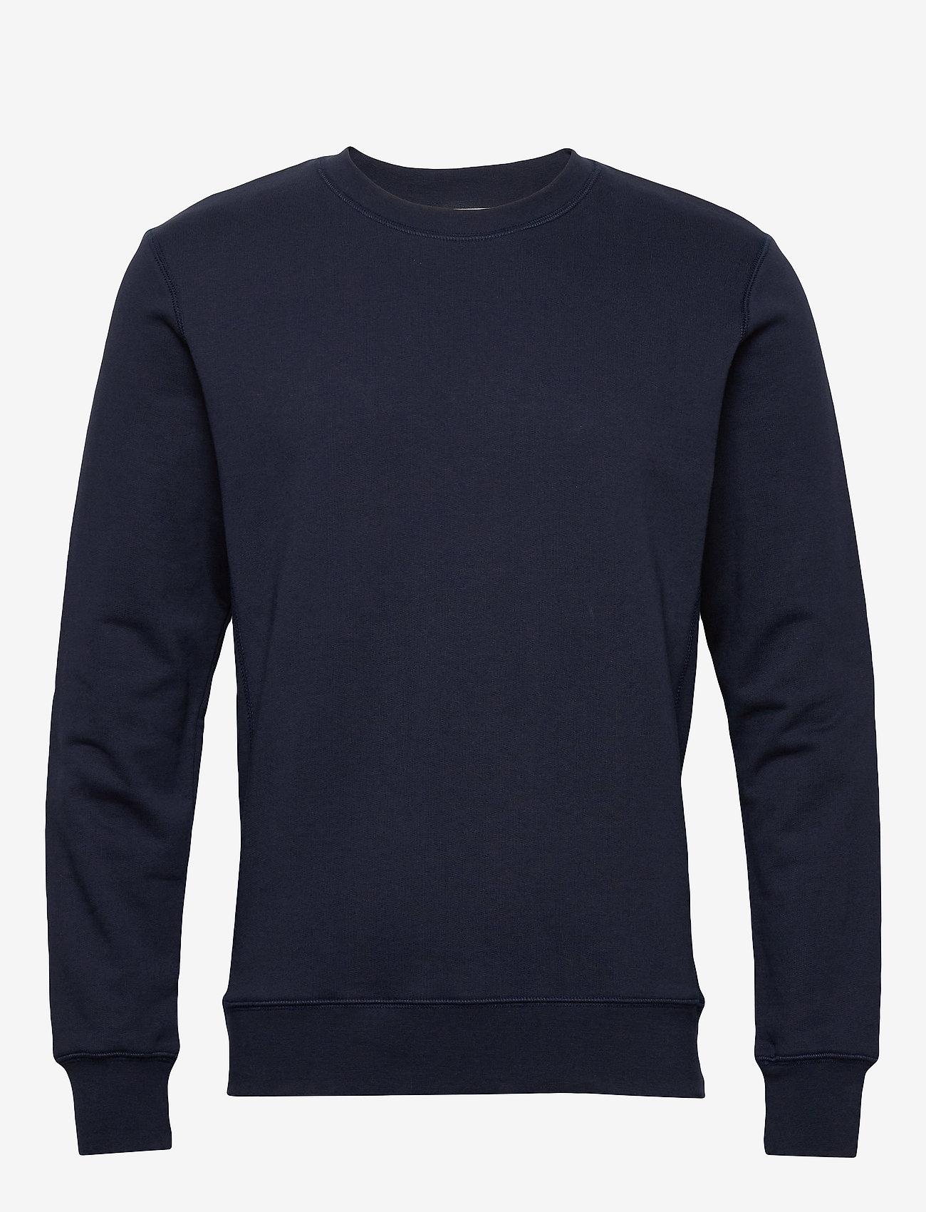 By Garment Makers The Organic Sweatshirt - Sweatshirts NAVY BLAZER - Menn Klær