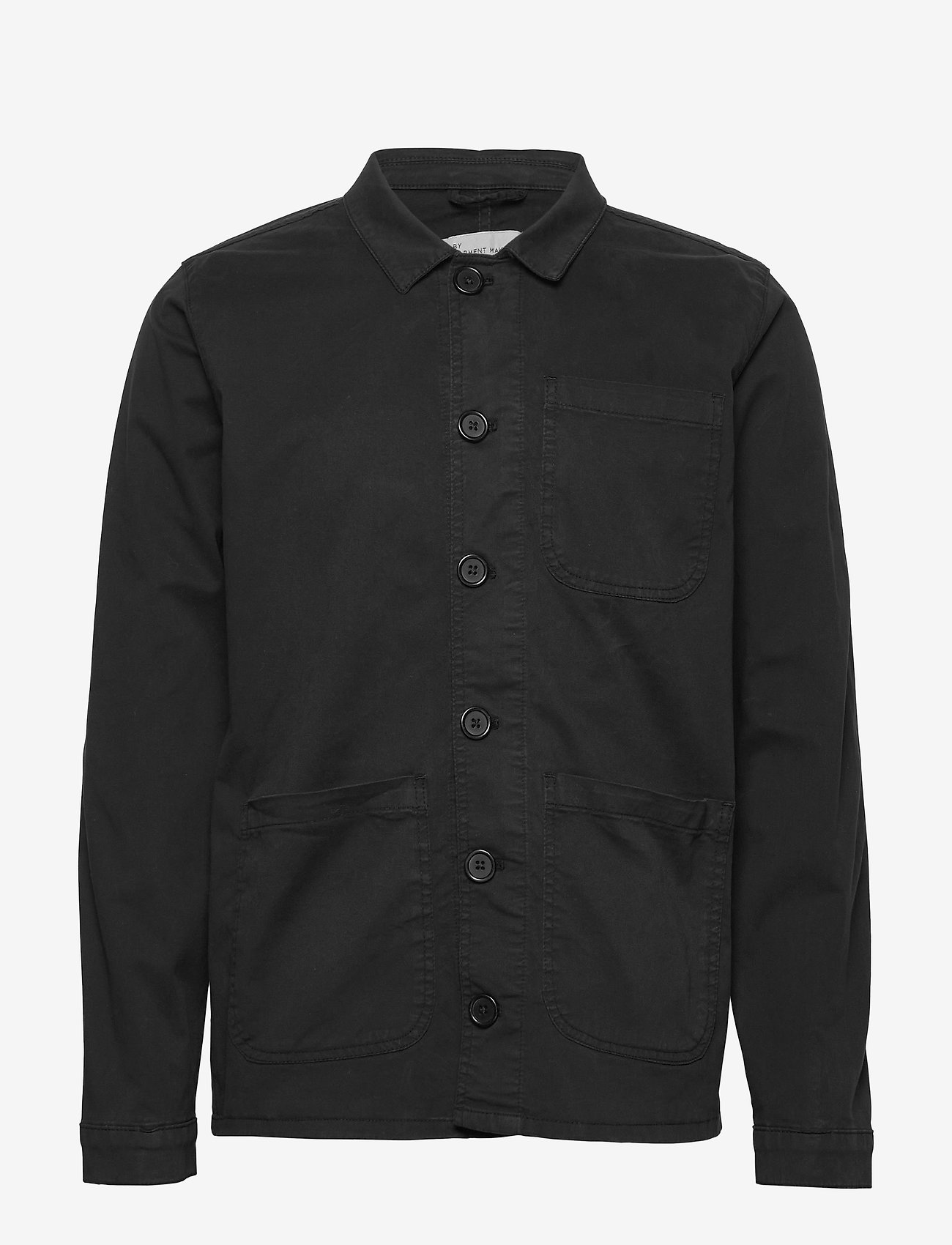 By Garment Makers - The Organic Workwear Jacket - podstawowe koszulki - jet black - 0
