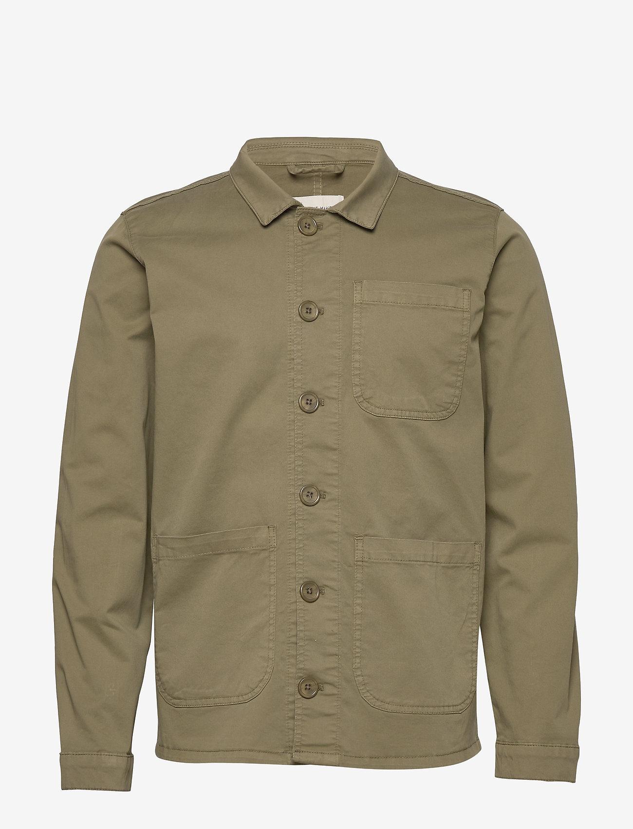 By Garment Makers - The Organic Workwear Jacket - podstawowe koszulki - oil green - 0