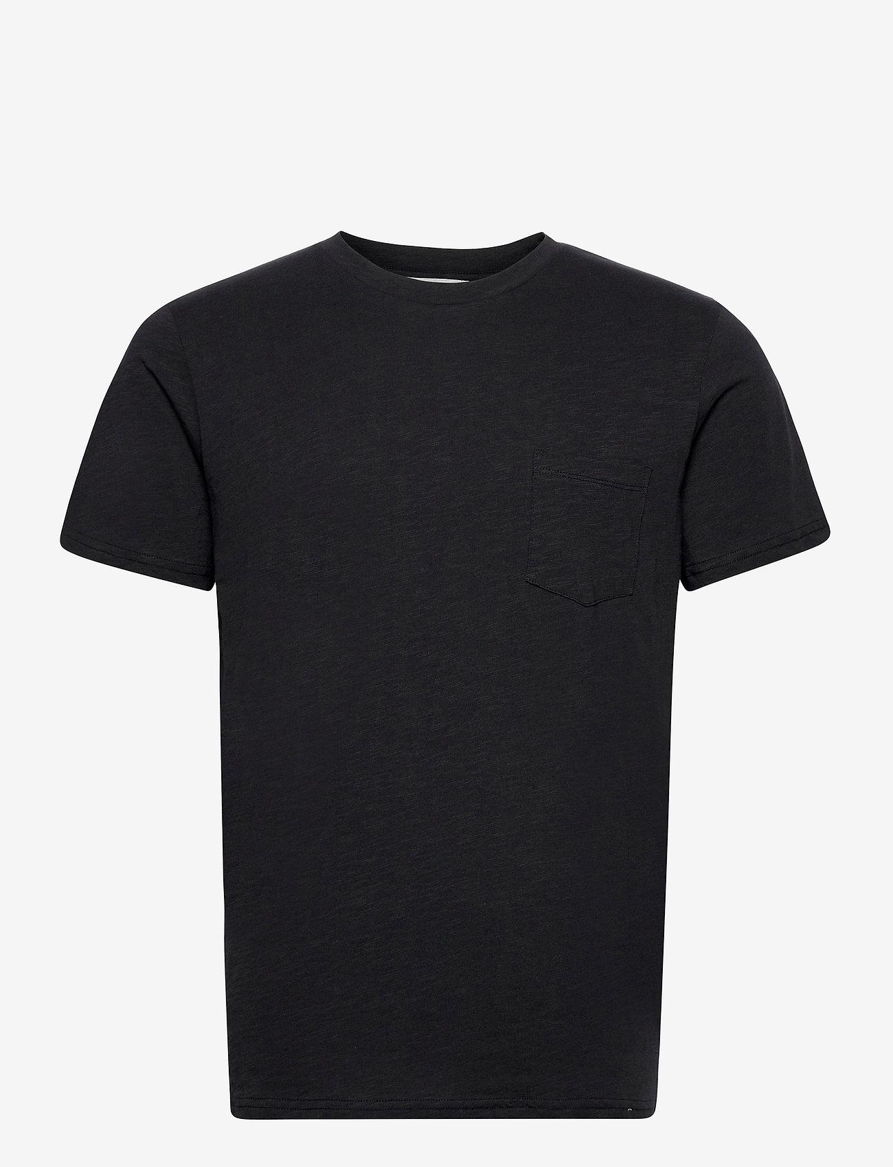 By Garment Makers - The Organic Tee w. pocket - podstawowe koszulki - jet black - 1