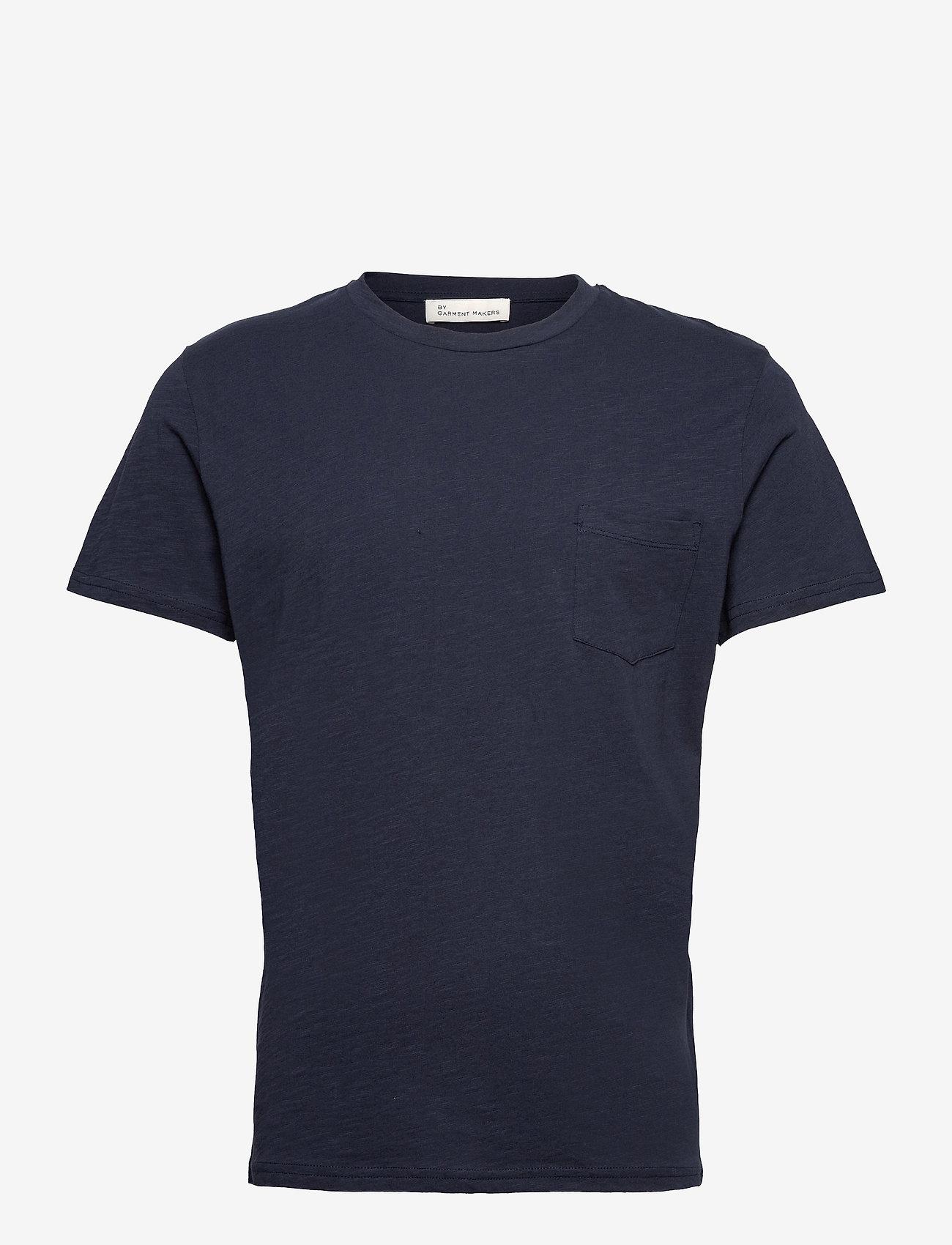 By Garment Makers - The Organic Tee w. pocket - podstawowe koszulki - navy blazer - 1