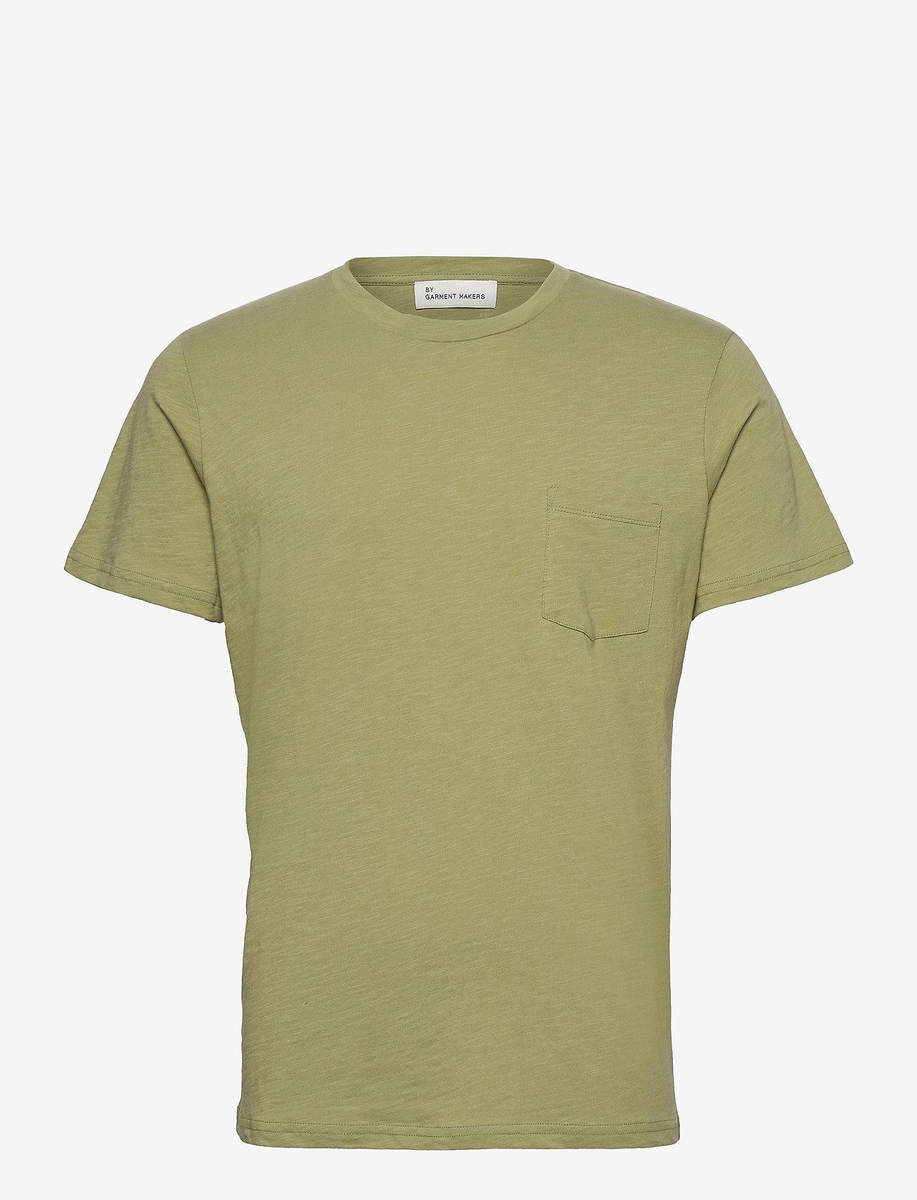 By Garment Makers - The Organic Tee w. pocket - podstawowe koszulki - sage green - 1
