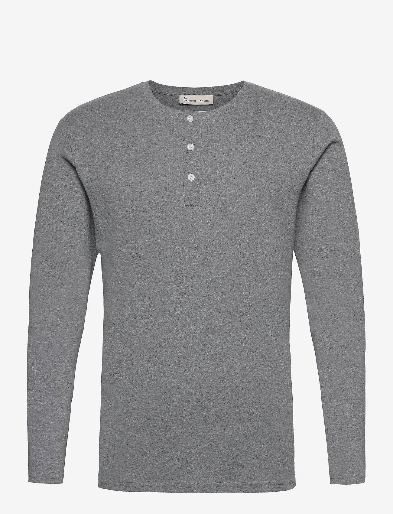 By Garment Makers - Larry LS - t-shirts basiques - grey melange - 1
