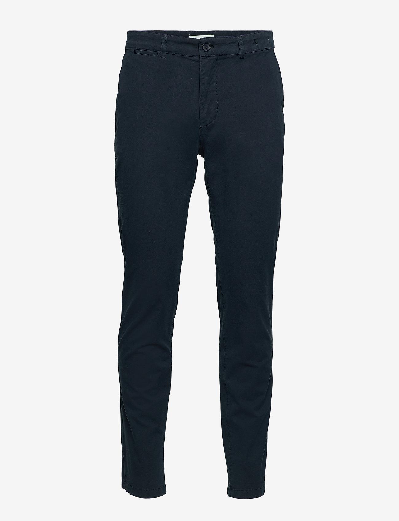 By Garment Makers - The Organic Chino Pants - pantalons chino - navy blazer - 1