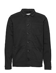 The Organic Workwear Jacket - JET BLACK