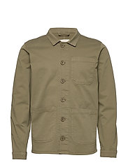 The Organic Workwear Jacket - OIL GREEN