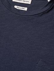 By Garment Makers - The Organic Tee w. pocket - podstawowe koszulki - navy blazer - 3