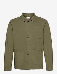 The Organic Workwear Jacket - OIL GREEN