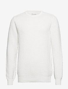 The Organic Plain Knit - basic knitwear - marshmallow