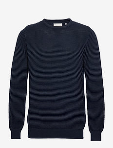 The Organic Plain Knit - basic knitwear - navy blazer