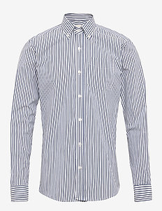 The Organic Striped shirt - business-paidat - 3103 blue