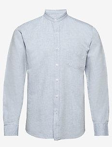 The Organic Mandarin Linen Shirt - basic shirts - allure