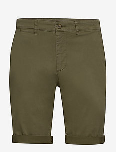 The Organic Chino Shorts - chinos shorts - oil green