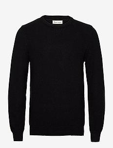The Organic Waffle Knit - tricots basiques - jet black