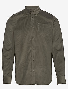 The Organic Corduroy Shirt - casual shirts - forrest green
