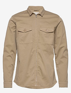 Novo - basic skjorter - khaki