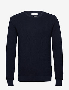 The Organic Cotton Knit - round necks - navy