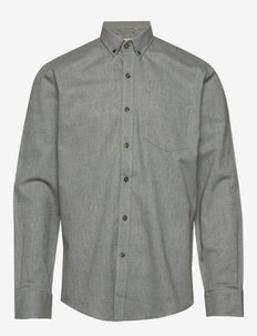 The Organic Flannel Shirt - FORREST GREEN