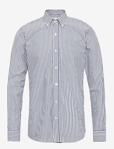 The Organic Striped shirt - chemises de lin - blue