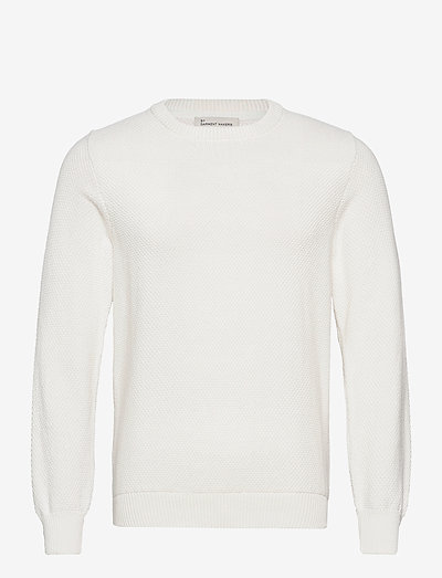 The Organic Waffle Knit - knitted round necks - marshmallow