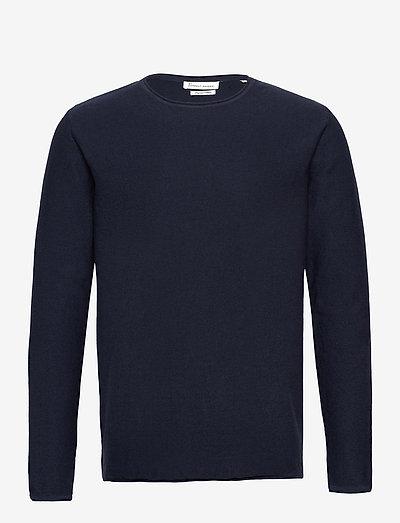 Alvin - knitted round necks - navy blazer