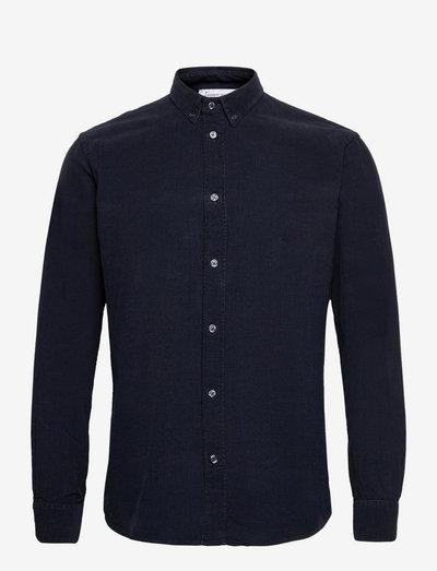 The Organic Corduroy Shirt - Vincent - chemises de lin - navy blazer