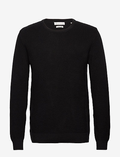The Organic Cotton Knit - knitted round necks - black