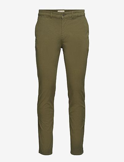 The Organic Chino Pants - pantalons chino - oil green