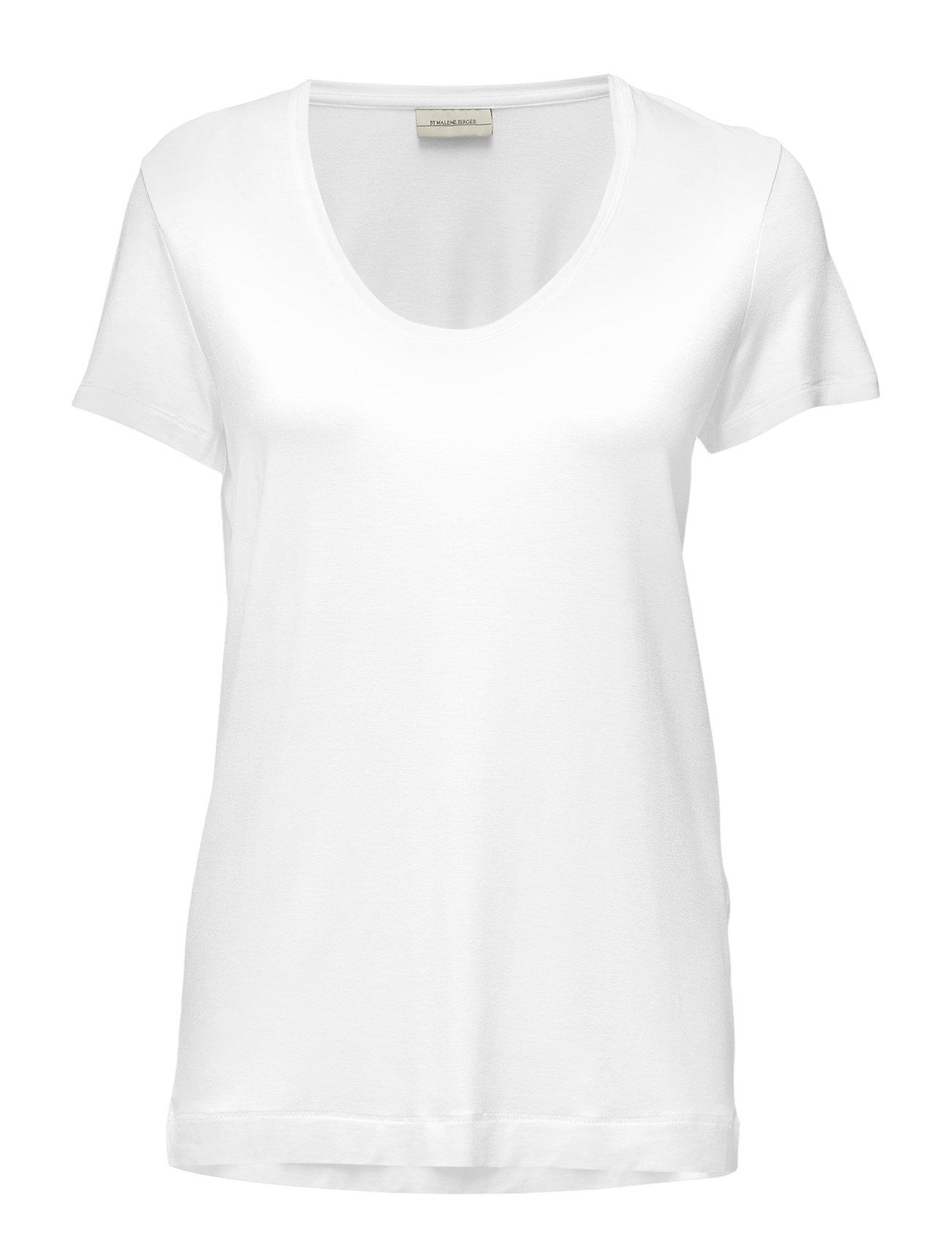 Image of Fevia T-shirt Top Hvid By Malene Birger (2421321737)