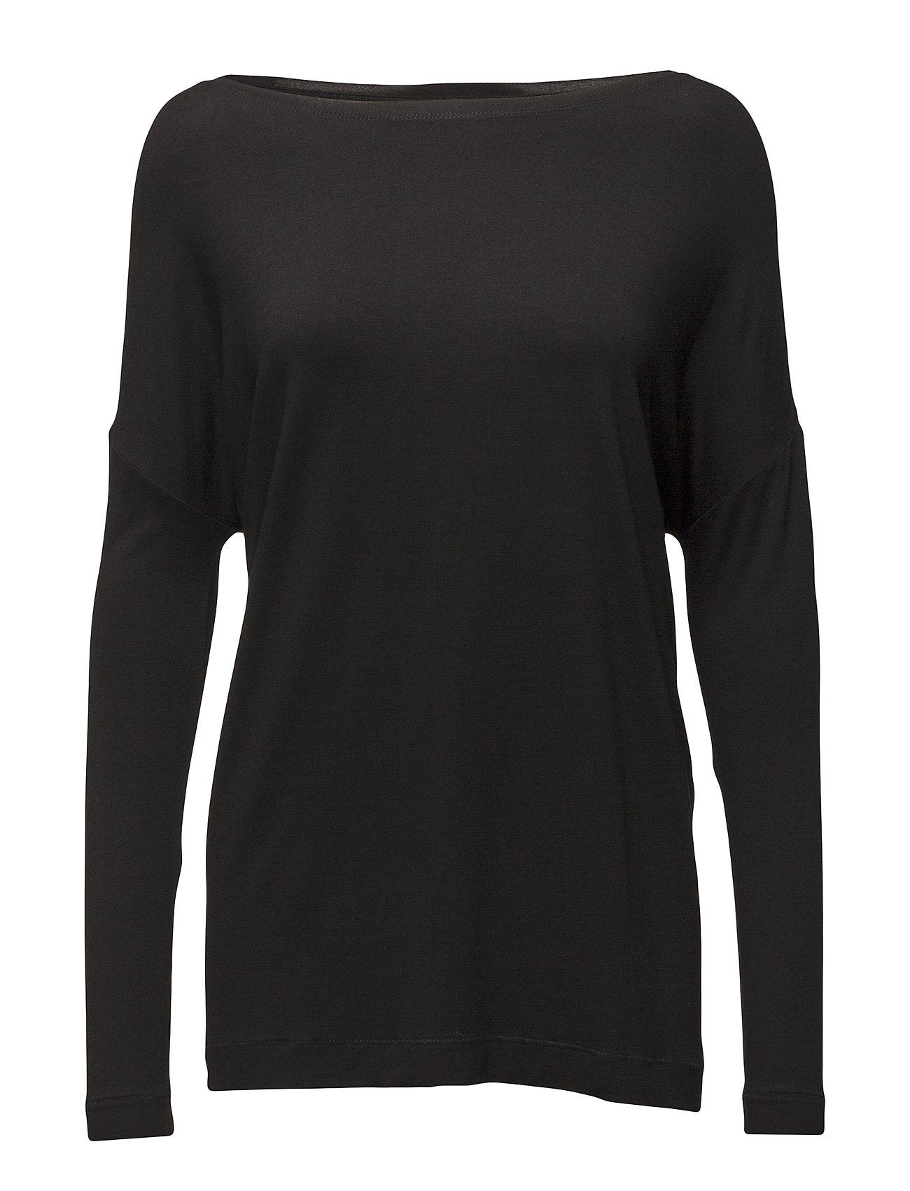 Image of Alloi Langærmet T-shirt Sort By Malene Birger (2421321741)