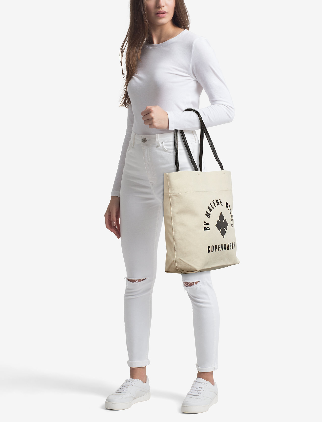 Flora Tote Bags Shoppers Fashion Shoppers Creme By Malene Birger
