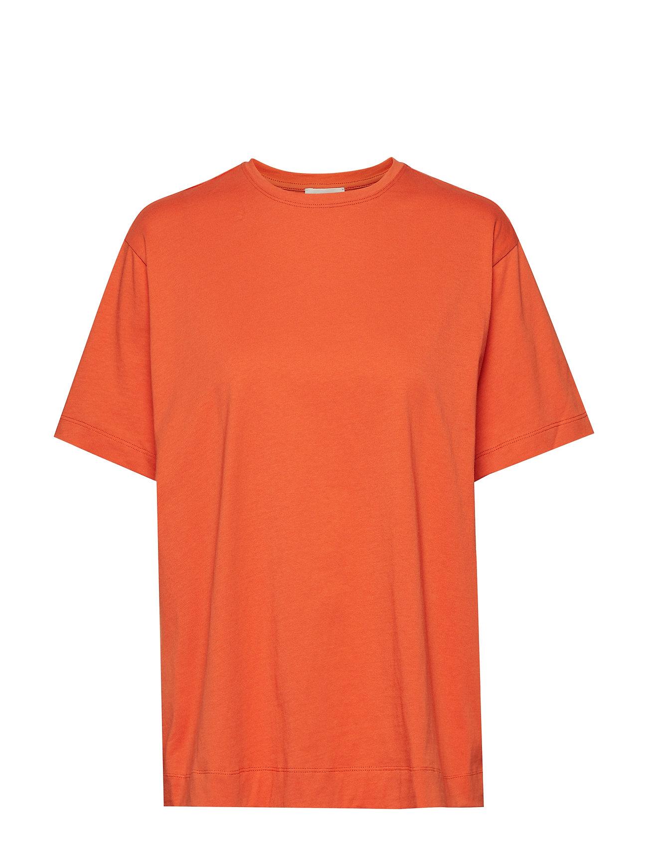 Image of Tsh5009s91 T-shirt Top Orange By Malene Birger (3346155363)