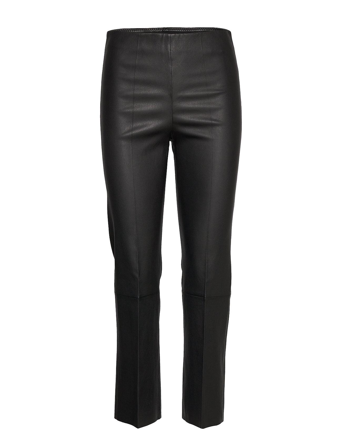 Image of Florentina Leather Leggings/Bukser Sort By Malene Birger (3411923219)