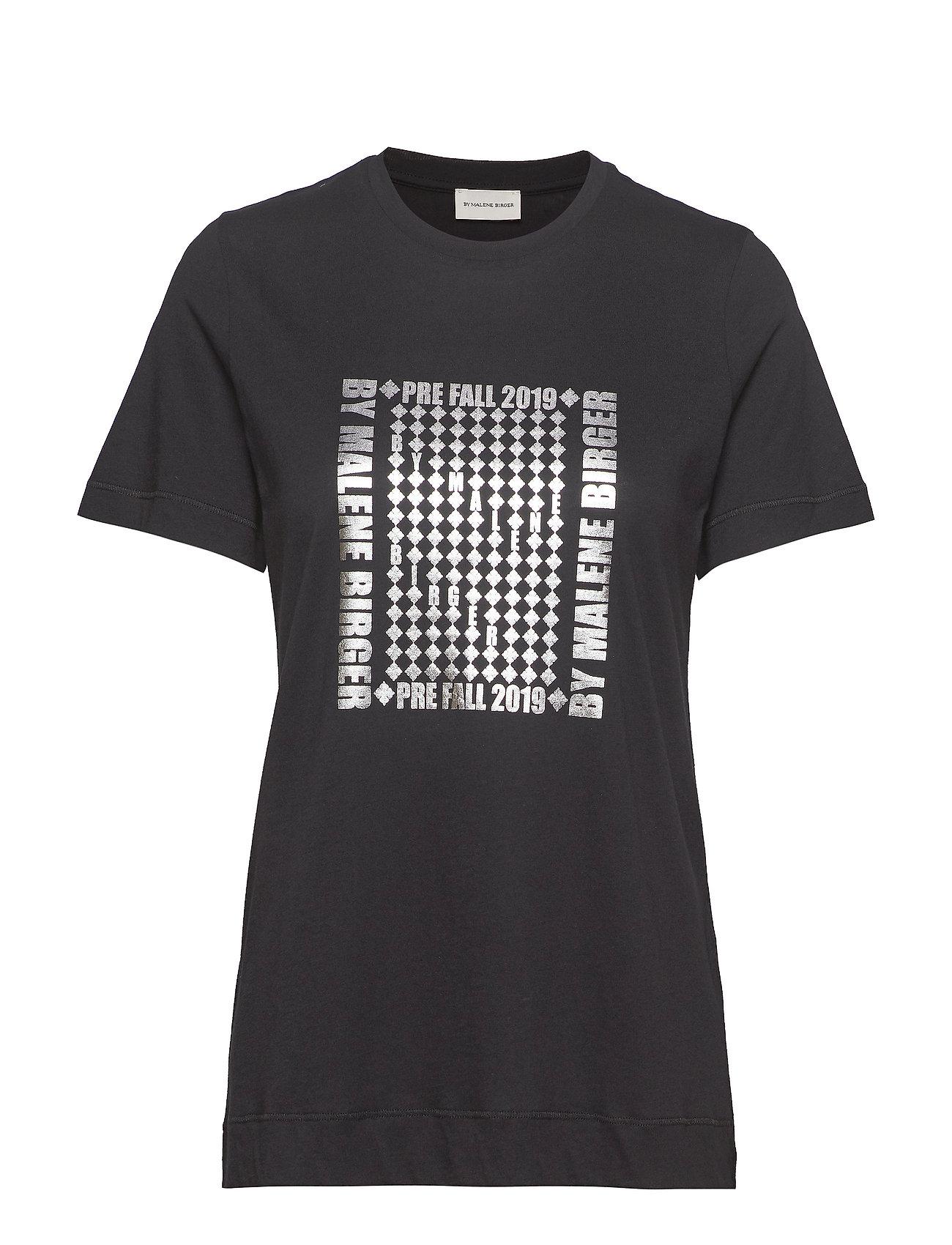 Image of Manja T-shirt Top Sort By Malene Birger (3173240173)