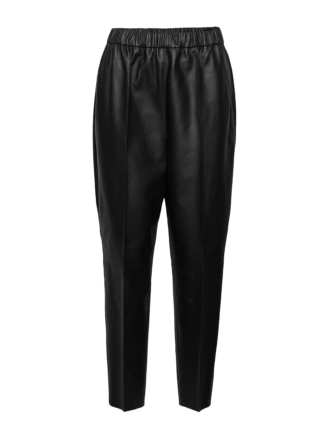 Image of Arecia Leather Leggings/Bukser Sort By Malene Birger (3414560279)
