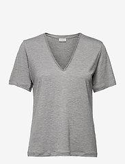 By Malene Birger - ANEILIA - t-shirts - med grey mel - 0